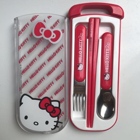 Hello Kitty Chopstick Spoon Box Set